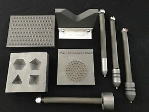 Glass blowing TOOL KIT #1 BOWL PUSH SET IMPLOSION TOOL VNECK 3 D STAMPFACET $275.00