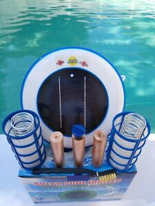 Solar Pool Ionizer LED UPGRADE Three Heavy Anode 3 Basket Dual SS Springs