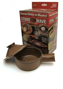 Stone Wave Microwave Cooker Non Stick Ceramic Stoneware Baking Pan As Seen On TV