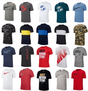 Nike T Shirts Mens Small to 3XL Authentic Dri Fit Short Sleeve Crew Neck Tees $22.99