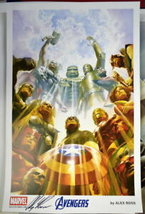 AVENGERS Earths Mightiest Heroes Limited Edition PRINT HAND SIGNED by ALEX ROSS $100.00