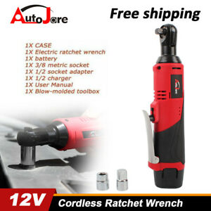 New 12V 3 8quot; Cordless Electric Ratchet Wrench Batteryamp;Charger spanner gun