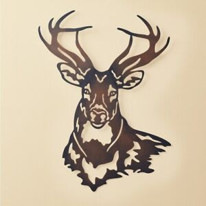 22quot; Deer Buck Metal Wall Art Sculpture Hanging Rustic Cabin Lodge Home Decor $23.85