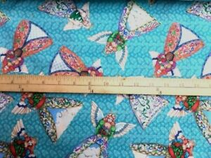 Darling ANGEL Material 100% Cotton.Fabric 44quot; WIDTH By The Yard $4.99
