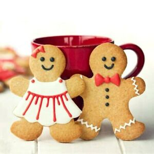 Christmas Cutter Biscuit Gingerbread Men Shaped Aluminium Alloy Decorating $5.69