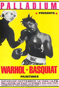 Andy Warhol Jean Michel Basquiat 1985 Boxing Gallery Show Poster $19.99