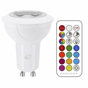 GU10 LED Light Bulbs 2G RGB Color Changing 8W Warm White with Remote 2 Pack