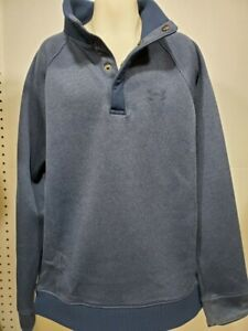Boys Kids Youth UNDER ARMOUR STORM Snap Pullover NEW Large Long Sleeve Blue $26.99