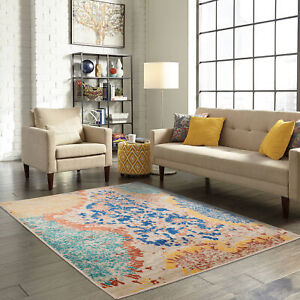 loomBloom Coral Reef Modern amp; Contemporary Oriental Area Rug Multi Sizes $269.99