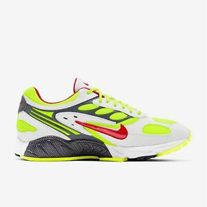 Nike Mens Air Ghost Racer White Atom Red Neon Yellow Running Shoes Size 9 $59.97