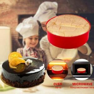 4 6quot; Silicone Round Bread Mold Cake Pan Muffin Mould Baking Bakeware Tools X6M9