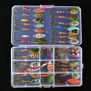 Spinner Bait Spoon Lure Trout Pike Metal Artificial Hard Crankbait Fishing Kits