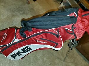 PING 4 Under Golf Stand Carry Bag Blue White 4 Way Divider $118.00
