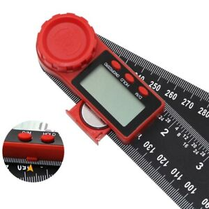 2 In 1 200mm 8quot; Protractor Ruler Electronic LCD Digital Angle Finder Goniom Ti $8.79