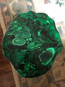New Chic One Of A Kind Faux Malachite And Gold End Table