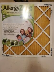 Allergy Zone 20x20x1 Furnace Filter New sealed USPS.