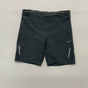 Nike Dri Fit Shorts Women's Small Gray Activewear Poly Blend $16.99