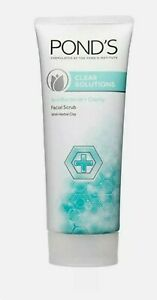 POND#x27;S CLEAR SOLUTIONS ANTIBACTERIAL amp; CLARITY FACIAL SCRUB WITH HERBAL CLAY