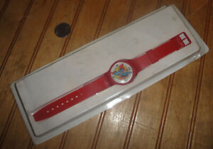 1987 Superman Watch 50th Anniversary Red Armour DC Comics Promo not working $7.95