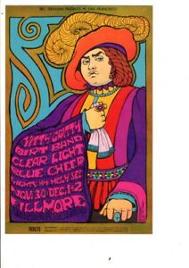 ORIGINAL 1967 PRE CONCERT BG 95 OPC A BLUE CHEER CLEAR LIGHT FILLMORE CARD