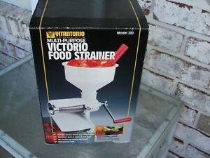 VICTORIO FOOD STRAINER MODEL 200 MADE IN USA
