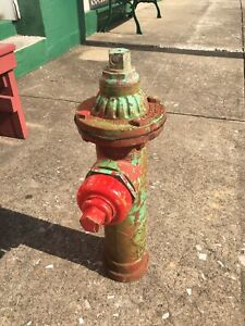 Vintage Eclipse #2 Water Fire Hydrant Small Design Kupferle Foundry St. Louis