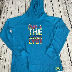 Under Armour Hoodie Girls Large Waffle Hoodie IM THE CATALYST B8 $12.50