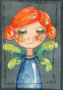 ACEO Original Painting Fairy Girl illustration Whimsical Art by FAiRyPiGGleS $10.00