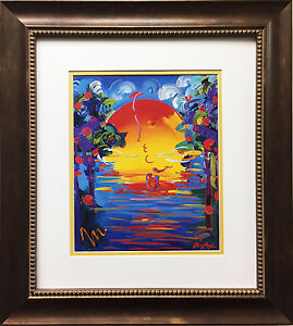Peter Max quot;Better Worldquot; NEWLY CUSTOM FRAMED Print Art POP psychedelic Neo $149.99