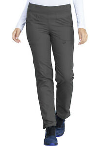 Dickies Scrubs Mid Rise Tapered Leg Pull On Pants DK125 PTWZ Pewter Free Ship