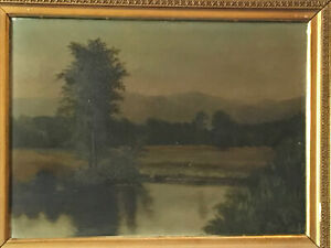 Antique Oil on Canvas Framed Waterscape Painting beautifully done $289.50