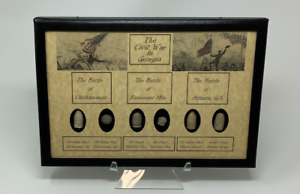 The Civil War Battles in Georgia Bullets with Glass Topped Display Case and COA $76.89