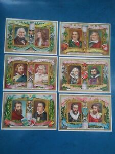 LIEBIG Set of 6 Advertising Recipe Trading Cards Famous Sculptures 6 Countries $6.99