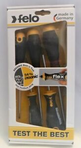 Set Of 5 Brand New In Box Felo 53693 Ergonic Slotted amp; Phillips Screwdrivers $27.99