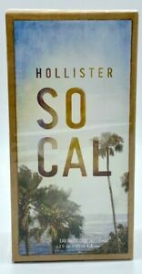 Hollister Socal 4.2oz EDC Spray For Men Discontinued Rare Brand New In Sealed
