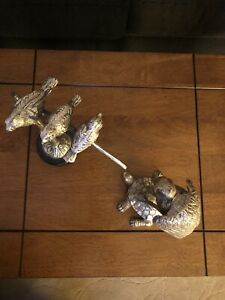 Birds And Turtle Metal Sculptures $15.00