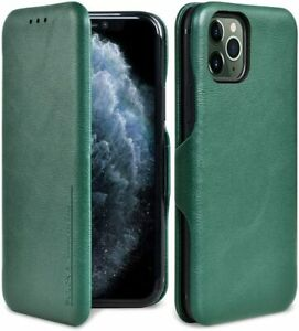 PULOKA Premium PU Leather for iPhone 11 Pro Max 6.5quot; Green