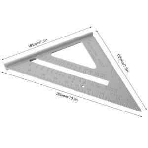 7Inch 90 Degree Ruler Aluminum Alloy Right Angle Ruler Woodworking 45 90 Degree $11.21