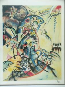 Rare Wassily KANDINSKY Signed Lithograph Abstract quot;Blue Crestquot; 1917 $1199.99