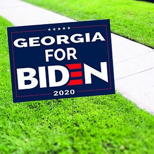 Georgia For Biden 2020 Vote For USA President Elections Coroplast Yard Sign