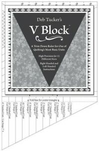 Deb Tucker#x27;s V Block Trimmer Quilting Ruler Template Studio 180 Designs 0002404 $30.00