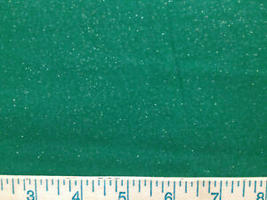 Christmas Green with Gold Glitter Sparkly 18quot; cut fabric sew quilt Crafts . $3.50
