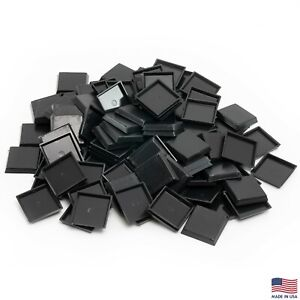 Pack of 100 25 mm Plastic Square Bases Miniature Wargames Table Top gaming $8.98