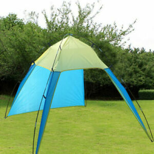 Beach Canopy Sun Shade Triangle Patchwork Tent Shelter Camping Hiking Fishing