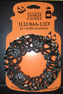 Yankee Candle ILLUMA LID Candle Topper Spider Web Silver NEW $19.99