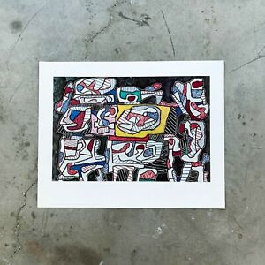 Jean Dubuffet Lithograph Print quot;Parade of Objectsquot; 1960#x27;s 28.5x22.5 Shorewood $120.00