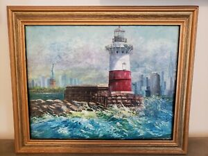 Lighthouse Oil Painting $299.00