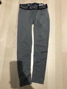 BOYS NIKE PRO TIGHTS 3 4 Length Gray Basketball Under Shorts Large L $9.99