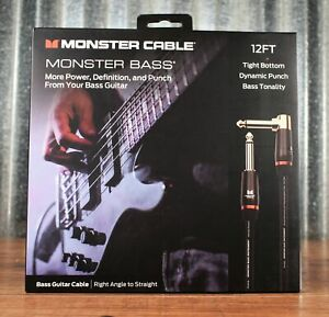 Monster Prolink Bass 1 4quot; Instrument Cable 12 ft RT Angle Straight 600549 00 $54.99