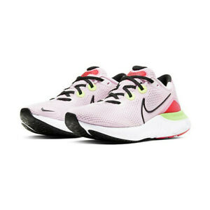 Nike Womens Renew Run Running Shoes Pink Foam Black CW5637 600 NEW $44.99